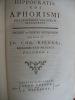 Hippocratis coi Aphorismi notationibus variorum illustrati . HIPPOCRATE