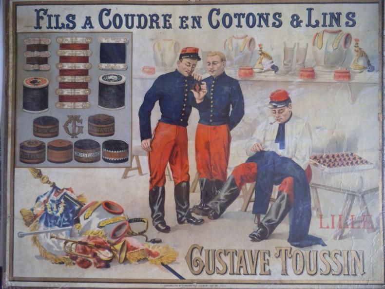 Fils à coudre en coton & lins Gustave TOUSSIN à Lille. . anonyme