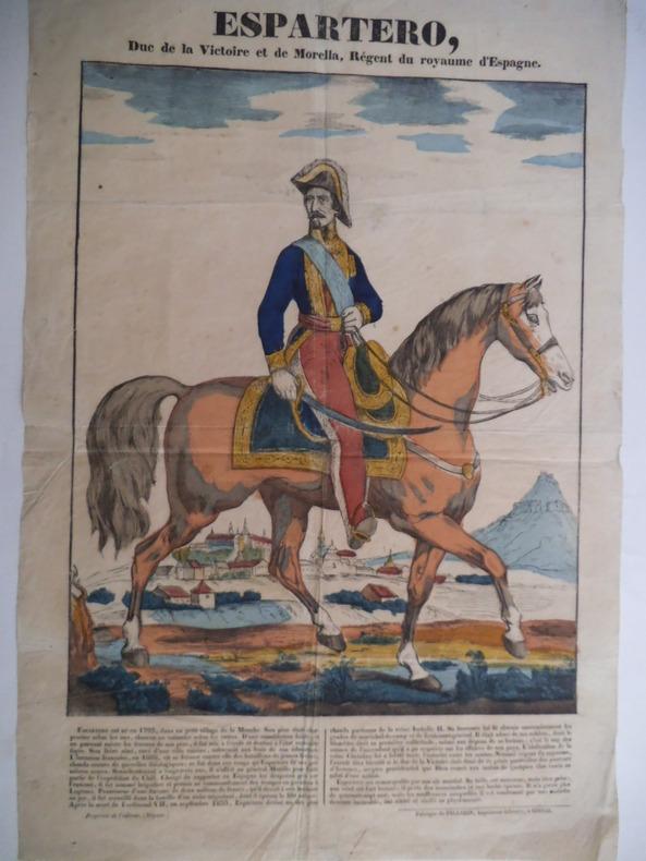 ESPARTERO Duc de la Victoire et de la Morella. PELLERIN Imagerie d'Epinal