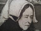 Vieille femme d'Ouessant  . COTTET Charles