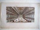 Vue des jeux Tournois dans le superbe manège de son A.S Mr le Duc de Bavière. . Vue d'optique