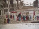 Vuë et perspective de la grande et célèbre place St Marc de Venise.. Vue d'optique
