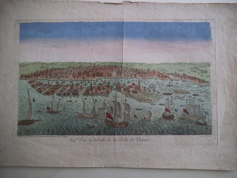Vuë générale de la ville de Venise. Vue d'optique