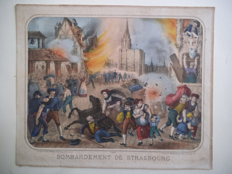 Bombardement de Strasbourg . Anonyme
