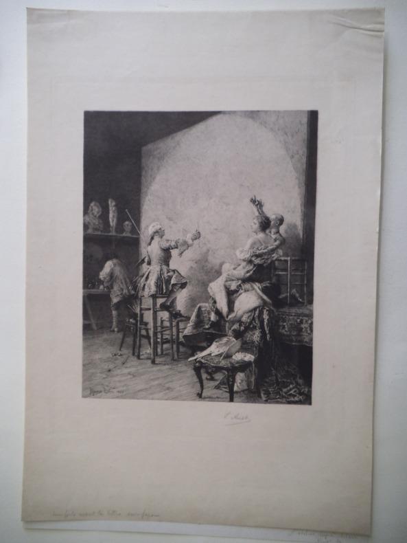 L'atelier . LELOIR Maurice