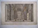Vue intérieure de Saint Pierre de Rome . Vue d'optique