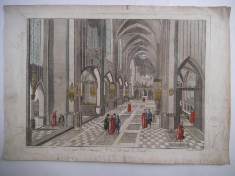 Vue intérieure de la cathédrale de Dorth.. Vue d'optique