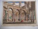 vue présentant le fameux théâtre de Reggio proche Modène . Vue d'optique