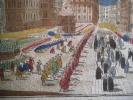 procession du st sacrement,le jour de la feste Dieu,à Vienne en Autriche. . Vue d'optique
