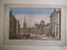 Le collège de la Reine et celui de l'université d'Oxford. . Vue d'optique