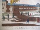 Vue du manège couvert de Berlin avec la statue de Frédéric Roi de Prusse.. Vue d'optique