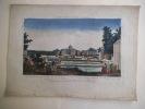 Vue perspective du Palais Royal d'Aranjuez en Espagne.. Vue d'optique
