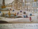 Le palais de Pamphilius et la place Navone à Rome . Vue d'optique