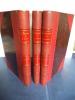 Algérie-gouvernement-administration-législation. Trois tomes en trois volumes in 8, demi-chagrin rouge à. BEQUET Léon et Marcel SIMON