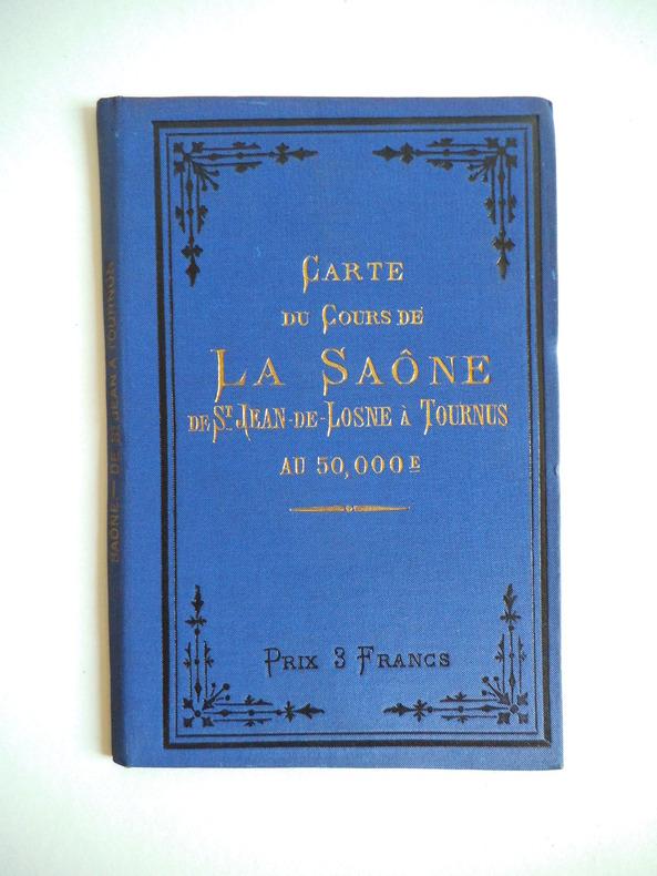 carte du cours de la Saône de St Jean -de -Losne à Tournus. . VUILLAUME  R.