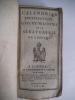 Calendrier ecclésiastique civil et militaire de la Sénatorerie de limoges 1808 . collectif