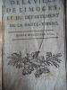 Calendrier de la ville de Limoges et du département de la Haute-Vienne année bissextile 1792.. Collectif