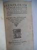 Exemplorum memorabilium cum,ethnicorum,Tum Christianorum . RODRIGUES Eborense,André
