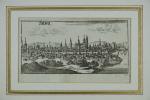 Sens. Gravure sur cuivre (Christophe RIEGEL, vers 1690). . [RIEGEL, Christophe (GRAVURE)].