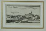 Ville franche [Villefranche-sur-Saône]. Gravure sur cuivre (Christophe RIEGEL, vers 1690). . [RIEGEL, Christophe (GRAVURE, KUPFERSTICH)].