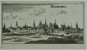 Bourges. Gravure sur cuivre (Christophe RIEGEL, vers 1690). . [RIEGEL, Christophe (GRAVURE)].