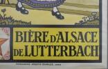 Bière d'Alsace de  Lutterbach.. [AFFICHE] HANSI (WALTZ, Jean-Jacques).