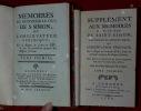 Mémoires de Monsieur le Duc de S. Simon, ou l'observateur véridique, sur le Règne de Louis XIV, & sur les premières époques des Règnes suivans. Suivis ...