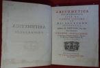 Arithmetica Universalis ; sive compositione et resolutione arithmetica (...) Cum commentario Johannis Castillionei (...). NEWTON (Isaac), CASTIGLIONE ...