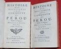 Histoire de la découverte et de la conquête du Pérou. Traduite de l'espagnol (...). ZARATE (Augustin de)