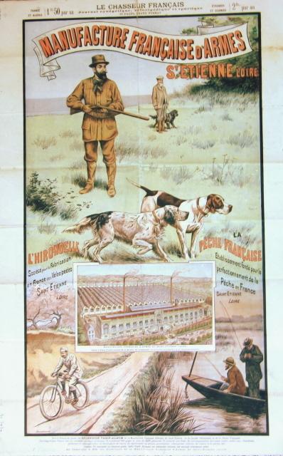 Manufacture française d'armes - St Etienne Loire. (Affiche) LE CHASSEUR FRANCAIS