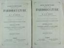 Cours élémentaire théorique et pratique d'Arboriculture. DU BREUIL A.