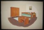 Planches aquarellées décoration - ébinisterie. EBENISTERIE - DECORATION