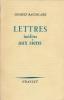Lettres inédites aux siens. BAUDELAIRE Charles