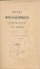 Notes bibliographiques générales. MASSON Louis