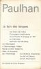 Oeuvres. II. Le don des langues. PAULHAN Jean