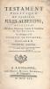 Testament politique du Cardinal Jules Alberoni, recueilli de divers Mémoires, Lettres & Entretiens de son Eminence. ALBERONI Jules ]