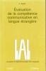 Evaluation de la compétence communicative en langue étrangère. BOLTON S