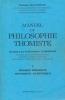 Manuel de Philosophie Thomiste. Tome I. Logique formelle - Ontologie - Esthétique. COLLIN Chanoine Henri