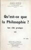Qu'est ce que la Philosophie ? Son rôle pratique . HERTRICH Charles