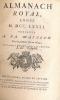 Almanach Royal année 1781. Présenté à sa Majesté pour la première fois en 1699. D'HOURY