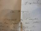 Le courrier d'un biologiste.. ROSTAND Jean