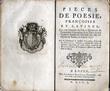 Pièces de poésie françoises et latines qui ont remporté les prix à l'Académie de l'Immaculée Conception .... BAILLEUL (Charles-Pierre de)