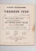 ALBUM-PROGRAMME TABARIN 1938. COLLECTIF