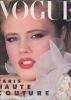 VOGUE mars 1983 haute couture. REVUE VOGUE