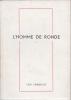 L'HOMME DE RONDE. LIBBRECHT Géo
