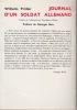 JOURNAL D'UN SOLDAT ALLEMAND  Traduit de l'allemand par Paul-Marie FLECHER  Préface de G. Buis. PRULLER Wilhelm