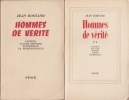 HOMMES DE VERITE. ROSTAND Jean