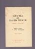 OEUVRES Poésies et théâtre en dialecte champsaurin Texte et traductions . MEYER DAVID (Daviou de la Coucoire)