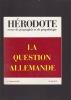 LA QUESTION ALLEMANDE. HERODOTE revue de géographie et de géopolitique