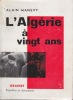 L'ALGERIE à vingt ans. MANEVY Alain